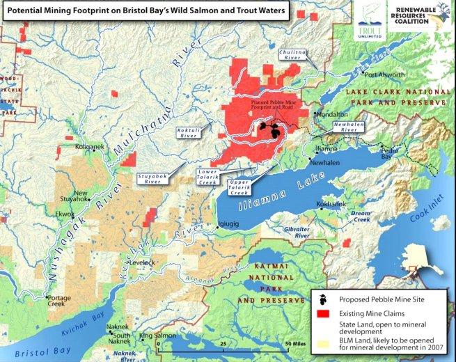 Pebble Mine Proposed Area