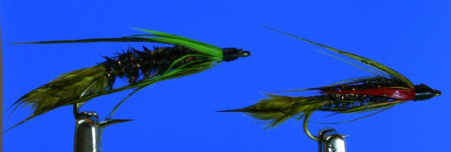 Lake Bait Wet w/ Green & Red Lateral Barbs~GM