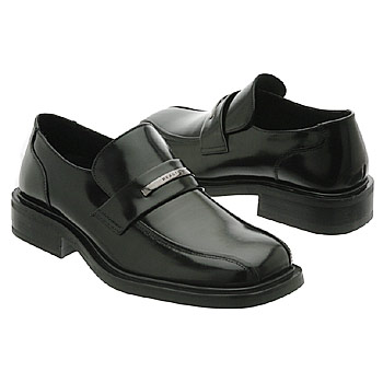 Stiff Black Dress Shoes-Young Men Rarely Leave