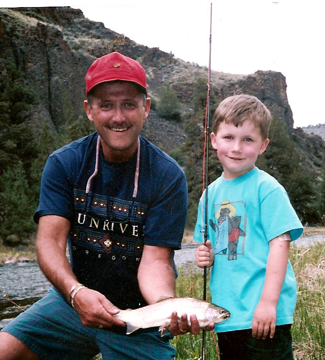 Tony's 1st. Flyrod Trout~Crooked R.