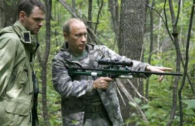 Putin w/ Tranq. Rifle