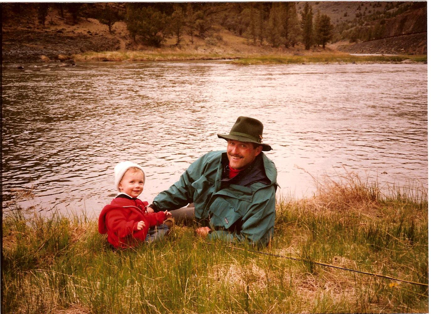Tony & Dad~Cobble Rock, Crooked R. 1991