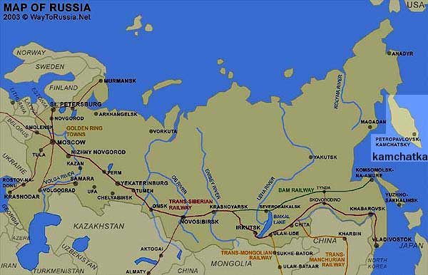 Russia With Kamchatka to the ???