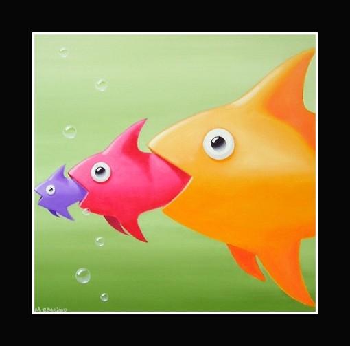 Fish Eats Fish by Michael Rossiter of Leurna, Australia