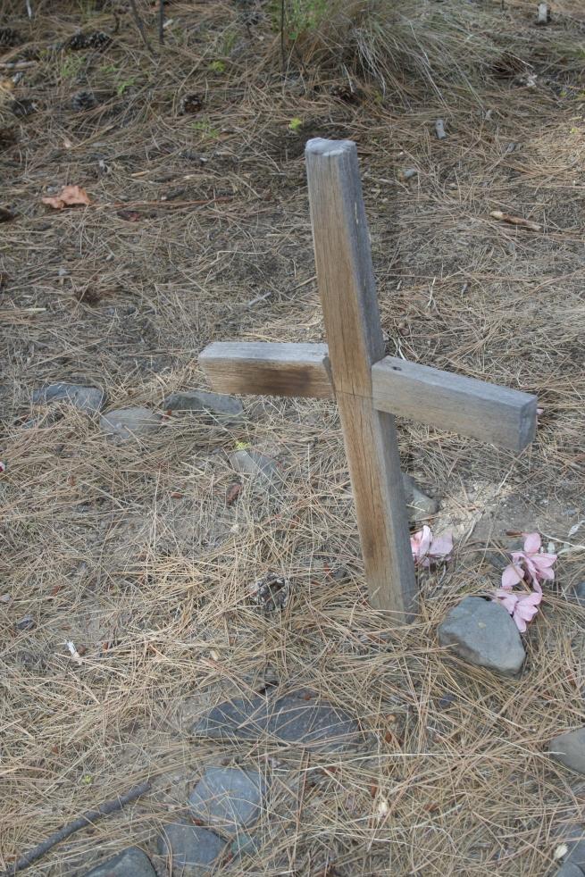 Wooden Cross at Ontko Grave~SwittersB