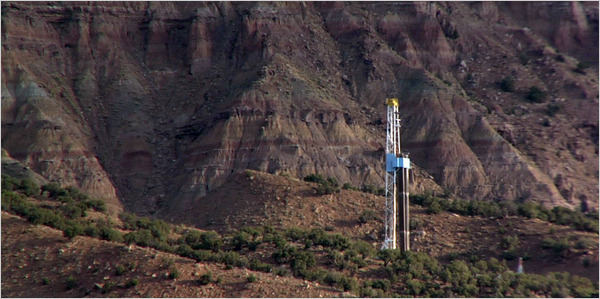 Roan Valley Natural Gas Drilling Site