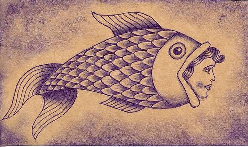 Tags: fish and woman tattoo, fish tattoo, germany, oliver heublein, tattoo