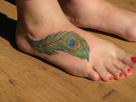 Feather Tattoo's (Peacock In the Right Spots) » peacock 5
