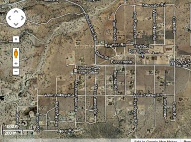Pioneer Town map