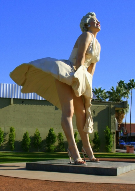 marilyn 7 year itch pose Gary Muncy Palm Springs, 2013