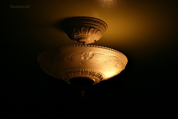 old ceiling light SB