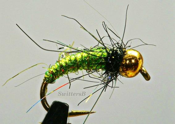 green bead head pupa SB