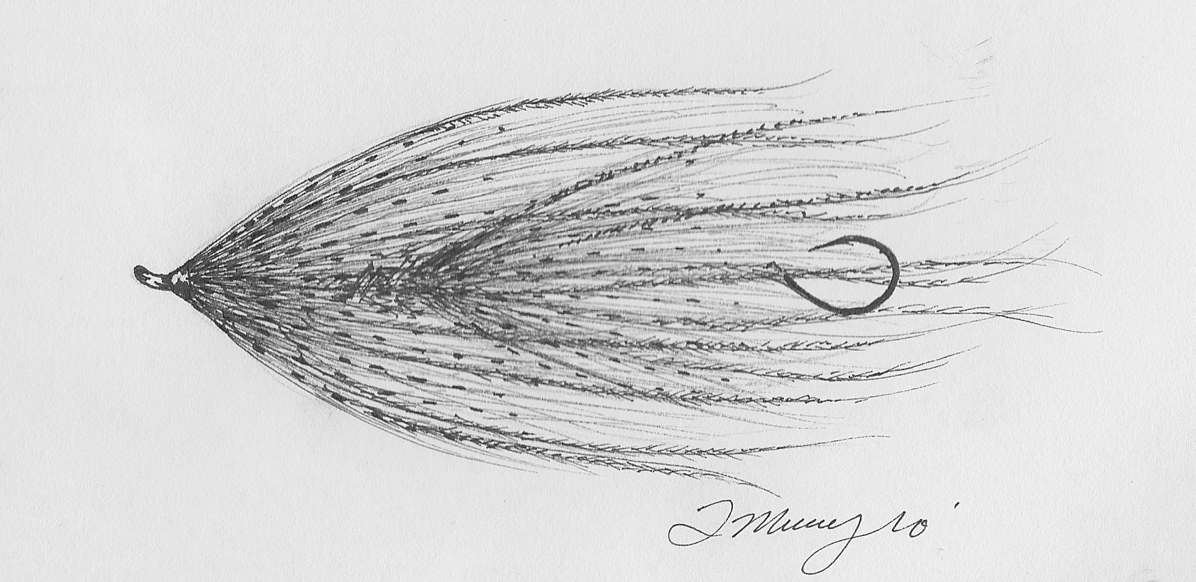 fly fishing drawing - photo #6