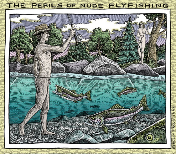 The-Perils-of-Nude-Flyfishing-Magnet