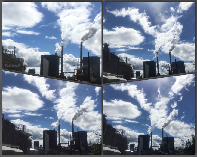 Photography--Camas Collage-Paper Mill-Smoke Stacks-SwittersB-Clouds