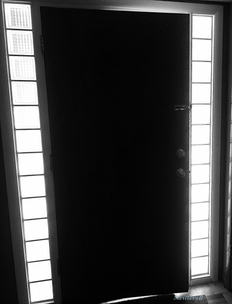 photography--door-glass blocks-black and white-SwittersB
