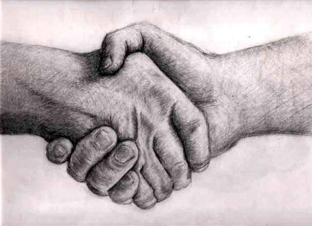 Handshake by Hourglassthorne on Deviantart