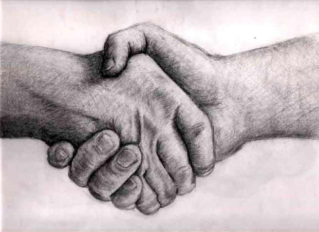 Handshake by Hourglassthorne on Deviantart