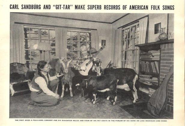 sanburg singing to goats