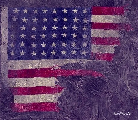 DDay US Flag Normady tattered SwittersB