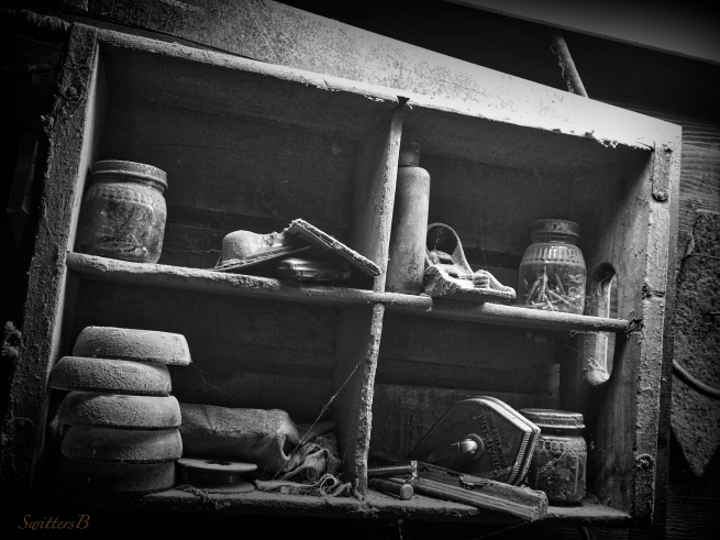 the shed+the shelf-BW-dust-cobwebs-photography-SwittersB