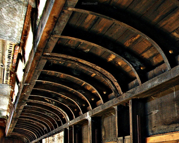Inside Old Rail Car-Passengers-roof-SwittersB-Photogragphy