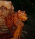 little bear-smiling bear-wood carving-photography-East L.-Oregon-SwittersB