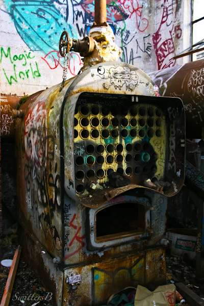 furnace, graffiti, Portland, SwittersB