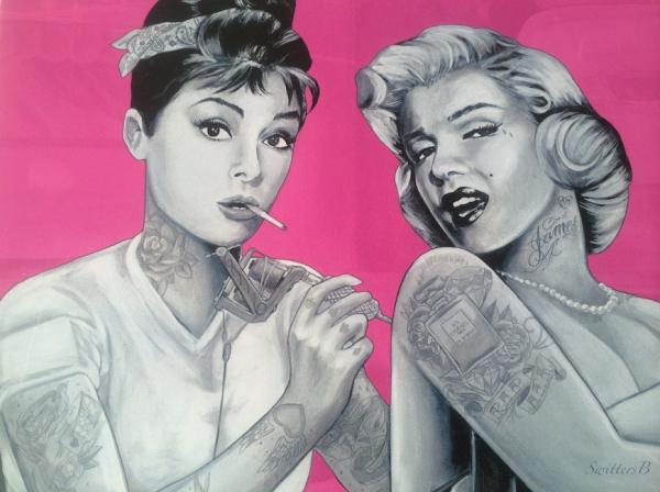 art-Audrey Hepburn-Marilyn Monroe-ink-tattoos-SwittersB