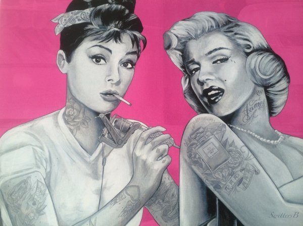 art-Audrey Hepburn-Marilyn Monroe-ink-tattoos-SwittersB