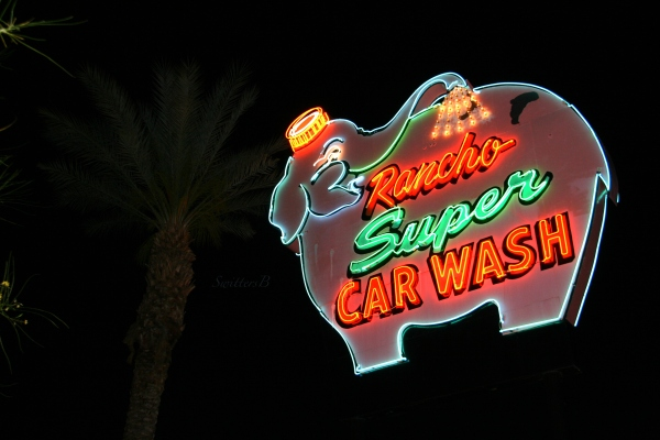 elephant car wash sign-Rancho Mirage-vintage-SwittersB