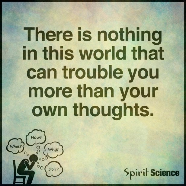 thoughts trouble mind