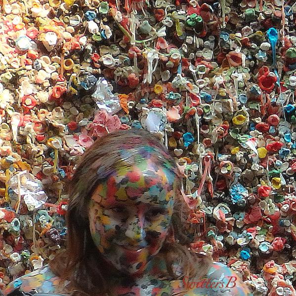 gum wall, painted model, Seattle, SwittersB