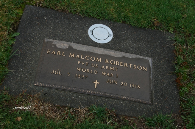 Earl Roberston 1918 died WWI SwittersB