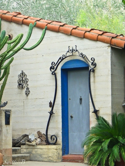 blue door-Moorten Botanical Garden-California-SwittersB