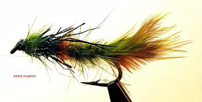 deer hair damsel-fly pattern-lakes-SwittersB