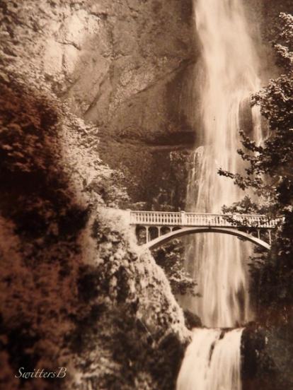 Multnomah Falls, Benson Bridge, Felix Stencil, 1942, SwittersB