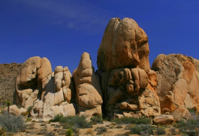 Joahua Tree-Rock formation-SwittersB