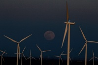 Rising Moon-Hazy-Wind Turbines-Duusk-Oregon-SwittersB