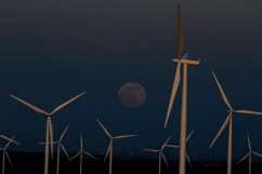 Rising Moon-Hazy-Wind Turbines-Duusk-Oregon-SwittersB